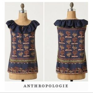 Anthropologie Portrait of a Girl Silk Blouse